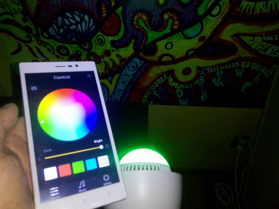 Żarówka LED RGB Goclever Colour Sound