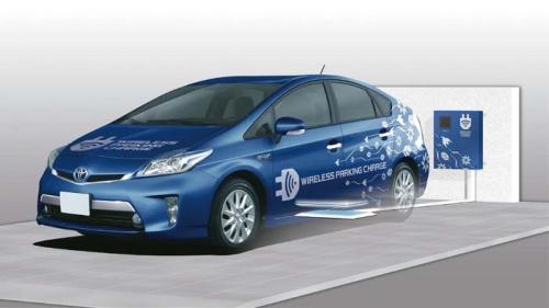 Samochód elektryczny ładowany bezprzewodowo