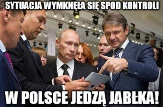 Putin i jabłka