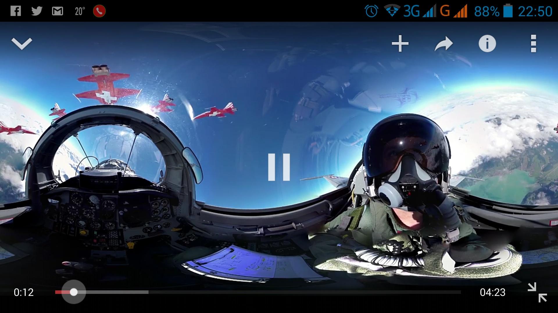 Filmy 360 stopni Youtube na Androida