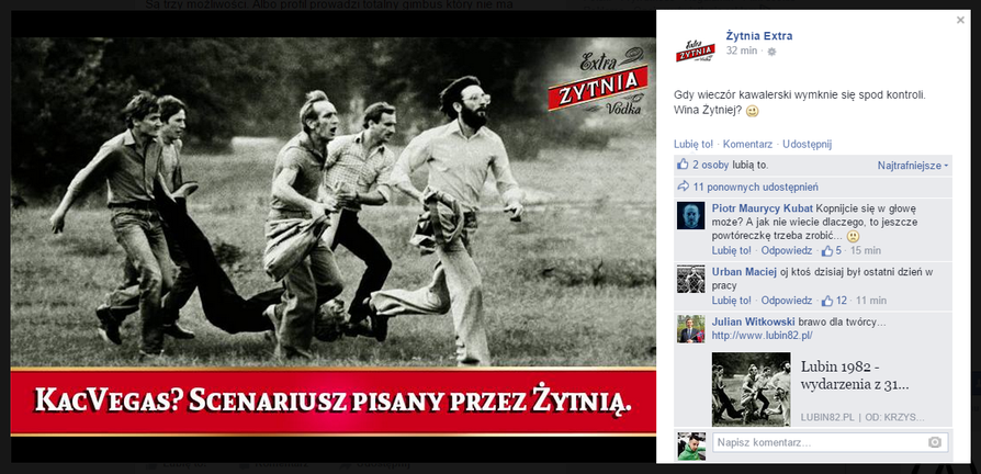 Fanpage Żytnie Extra - wpadka
