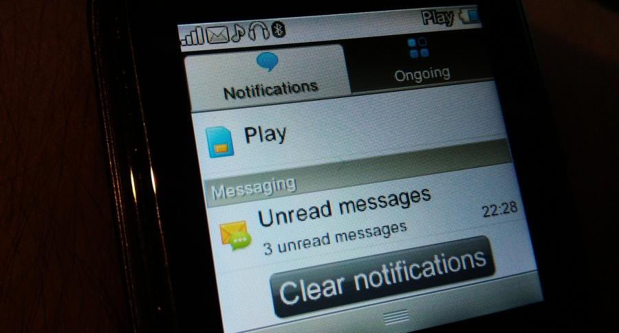 SMSy przez smartwatcha