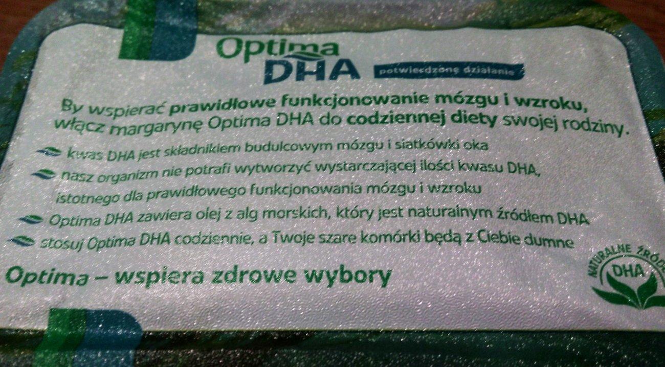 Właściwości margaryny Optima DHA