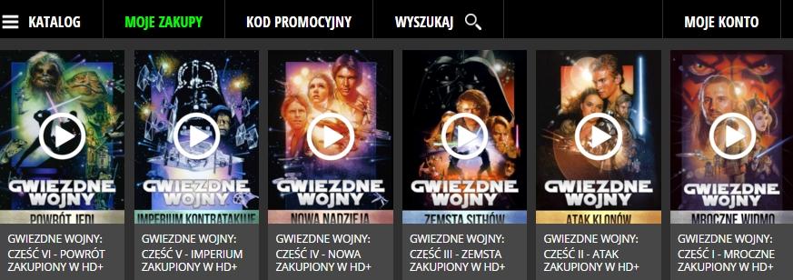 VOD Gwiezdne Wojny - Star Wars
