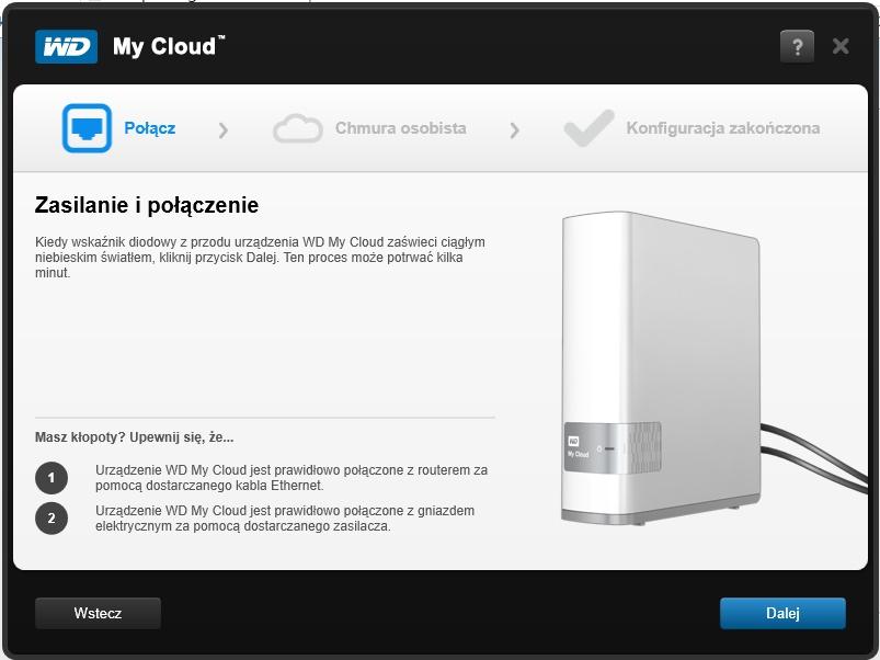 Instalacja WD My Cloud