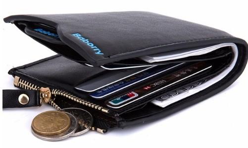 Męski portfel skórzany z Aliexpress