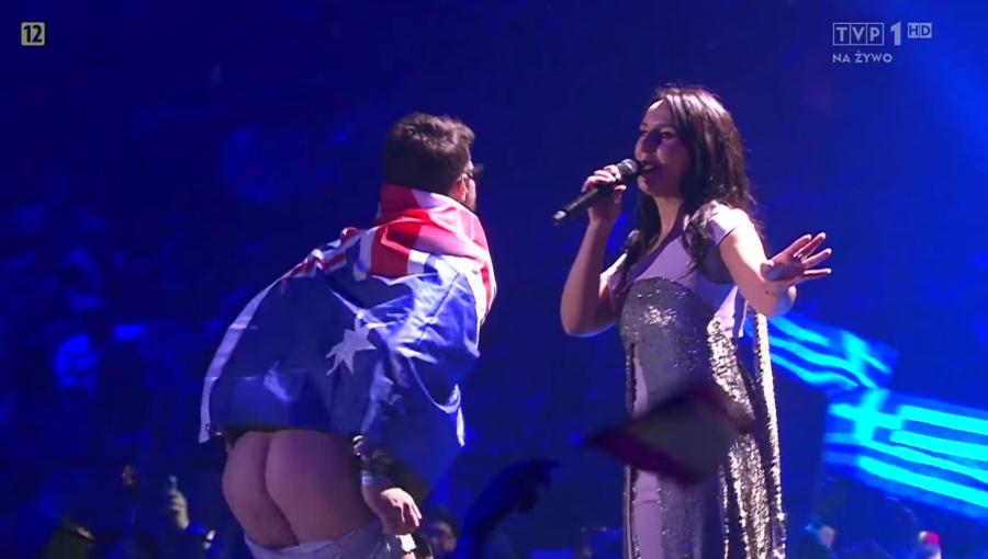 Pokazanie tyłka na Eurowizji