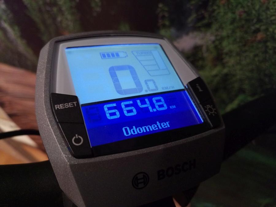 Licznik przejechanych kilometrów na rowerze