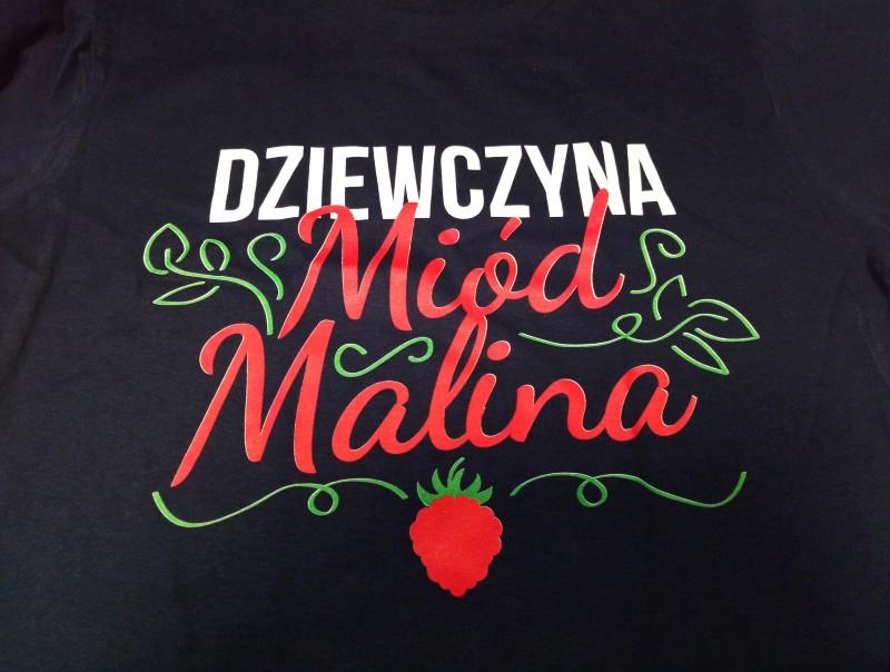 T-shirt Dziewczyna miód malina