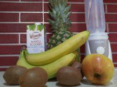 Koktajl owocowy z mlekiem sojowym