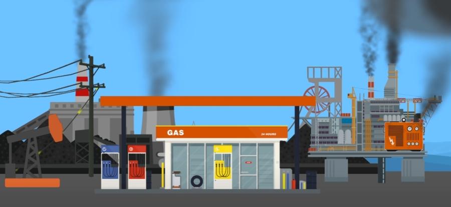Zanieczyszczenia z produkcji paliwa